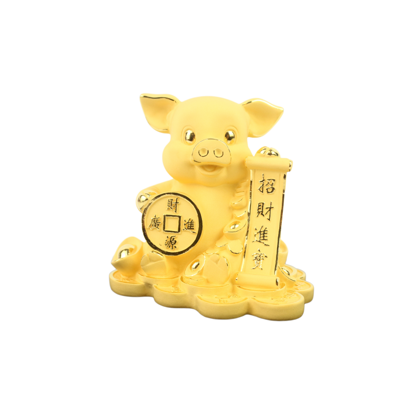 揮春-招財進寶銅錢豬