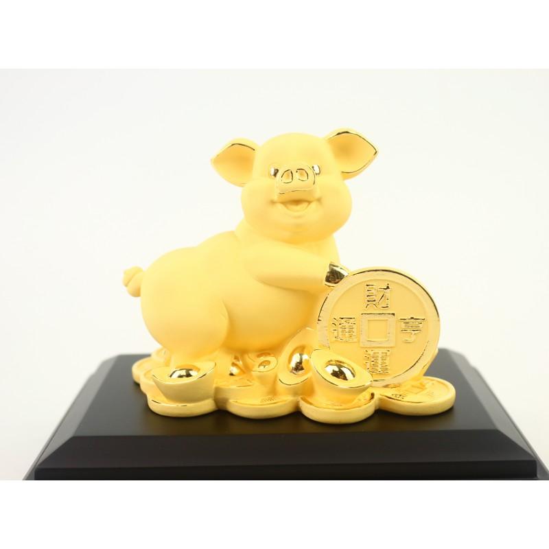 財運亨通大銅錢豬