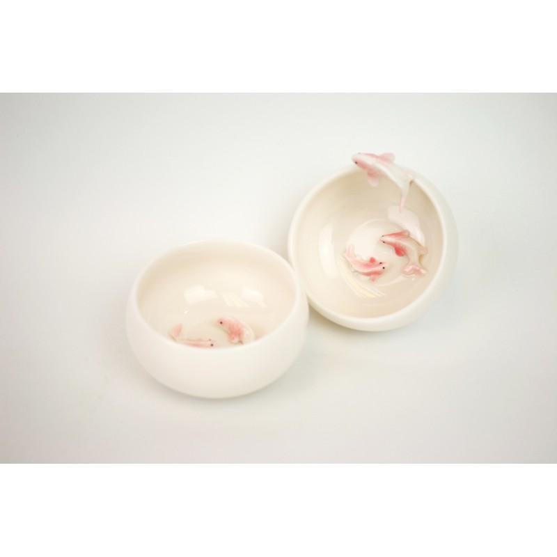 鯉魚陶瓷杯(白色)