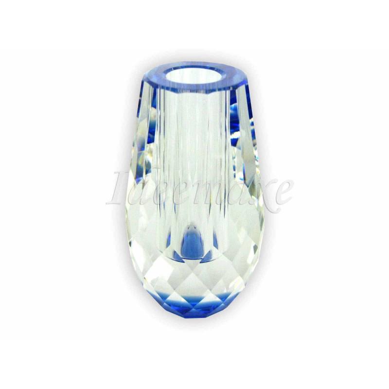 水晶花瓶 - 圓形-藍